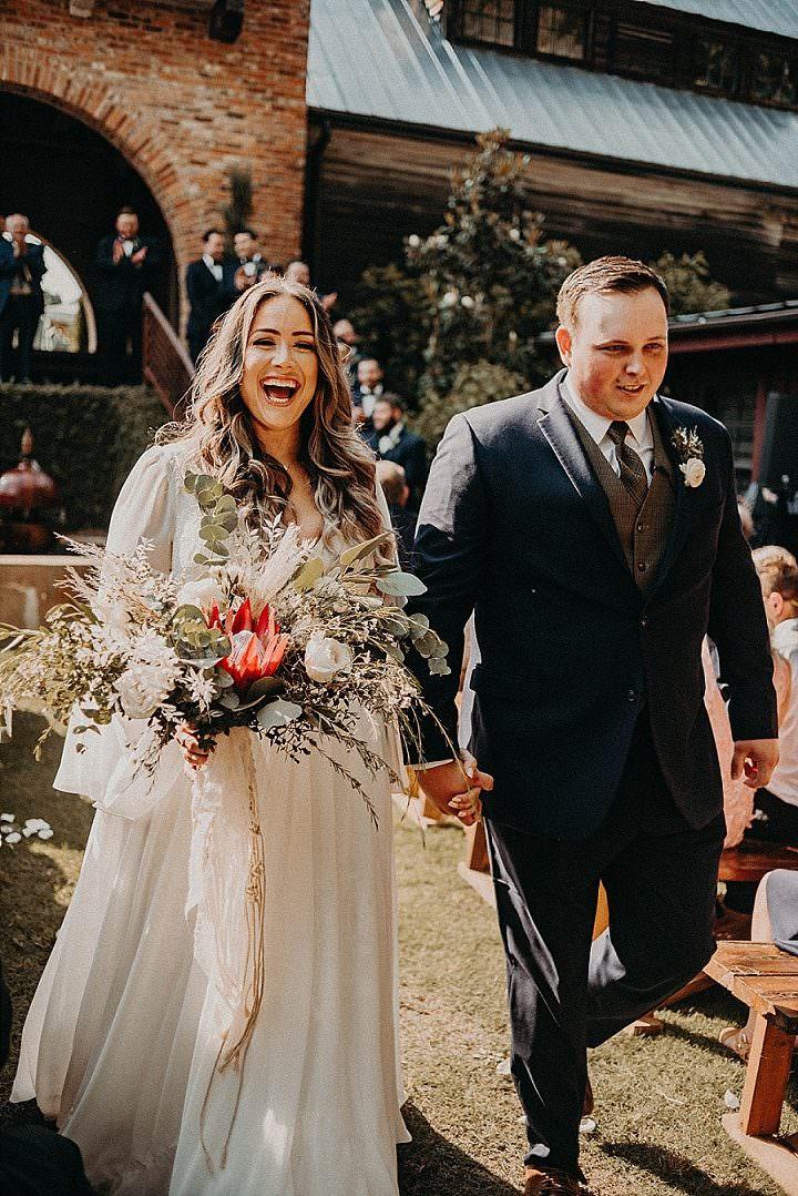 Rachel and Dillon's Earth Toned Boho Glam Wonderland Weddingby Nathalia Frykman
