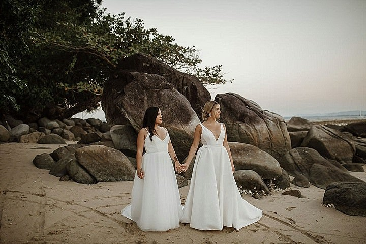 Bea and Sarah's Elegant and Chic White, Greenery and Bronze Phuket Beach Wedding by Wedding Boutique Phuket