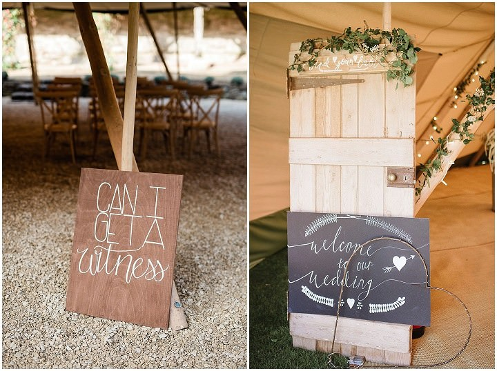 'Edgy Boho Glamour' Tipi Wedding Inspiration in The Countryside