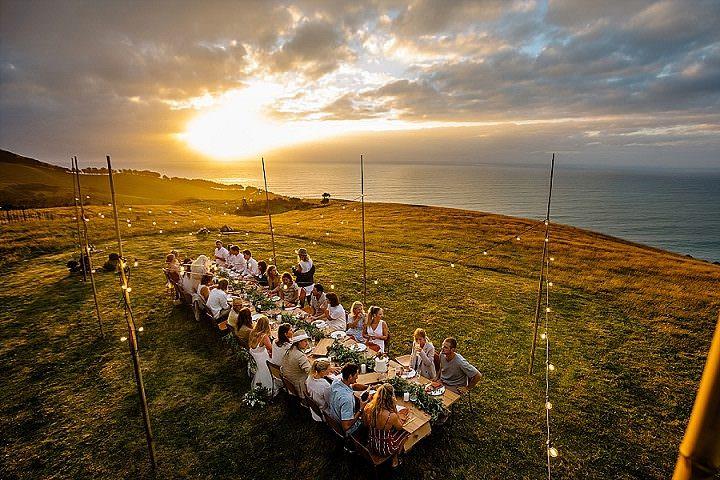 New Zealand Clifftop Sunset Wedding Inspiration