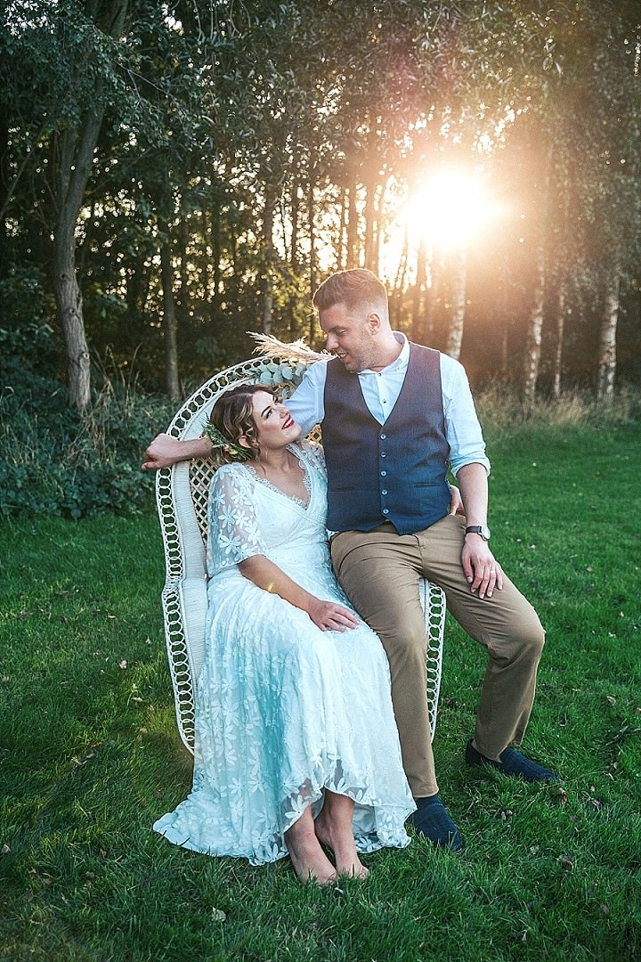 Sally and Conor's Rustic 'Festival Chic' DIY Derbyshire Wedding by Sarita White Photography