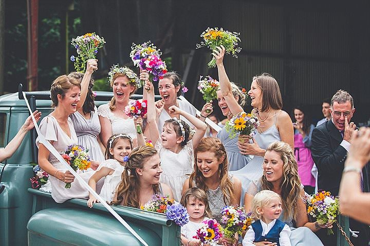 Amy and Ned's Two Weddings, Two Dresses, One Awesome Party in a Barnby Andrew George Photography