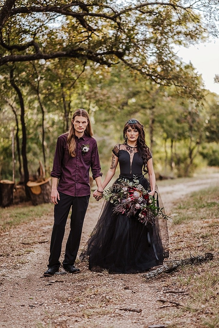 Dark, Moody and Elegant Halloween Elopement Inspiration