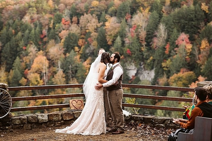 Bridget and Alex's Colourful Autumn Cabin Wedding In The Tennessee Mountains by OkCrowe Photography