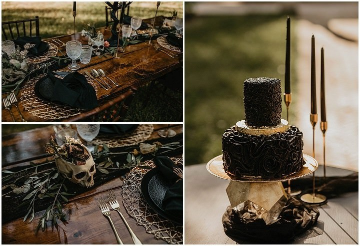 Smoke Bombs and Pumpkins for an Orange and Black Halloween Inspired Wedding