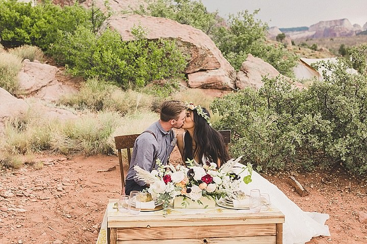 Willow and Tate's 'Under Canvas' Free Spirited With a Dash of Rock and Roll Elopement by Taylor Made Photography
