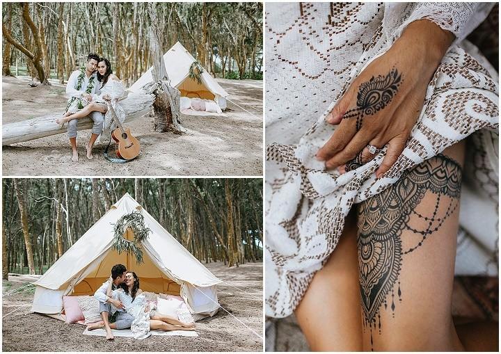 'Aloha From Hawaii' Macrame and Greenery Beach Wedding Inspiration