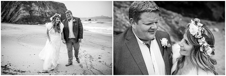 Carly and Pete's Boho Beach Wedding on the Cornish Coast by Johnny Dent Photography