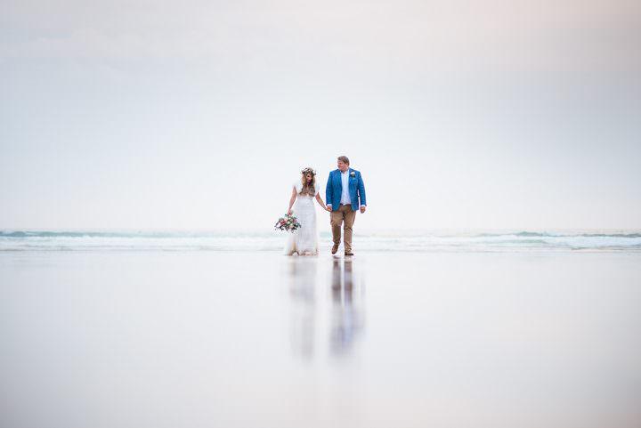 Carly and Pete's Boho Beach Wedding on the Cornish Coastby Johnny Dent Photography