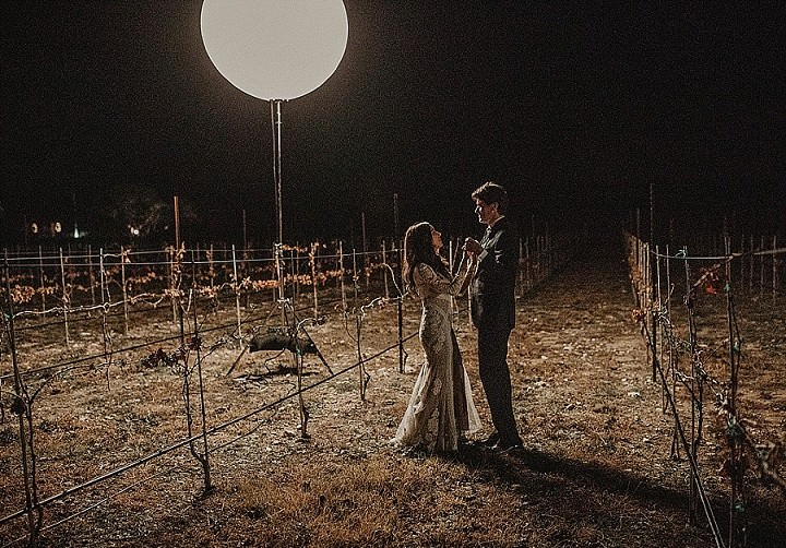 Stephanie and Mark's 'Dark, Moody and Romantic' Opulent Boho Luxe Backyard Wedding by Nikk Nguyen Photo