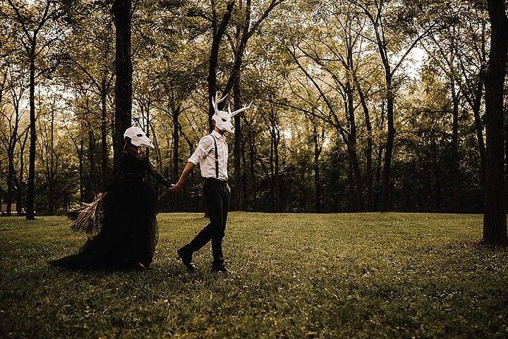 'Light is Easy to Love. Show me Your Darkness' - Spooky Elopement Wedding Inspiration
