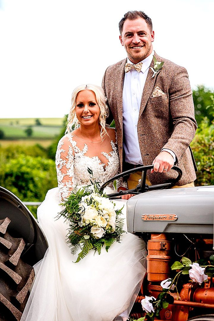 Sophie and Dale's Back Garden Rustic Farm Wedding in Devon by Lee Maxwell