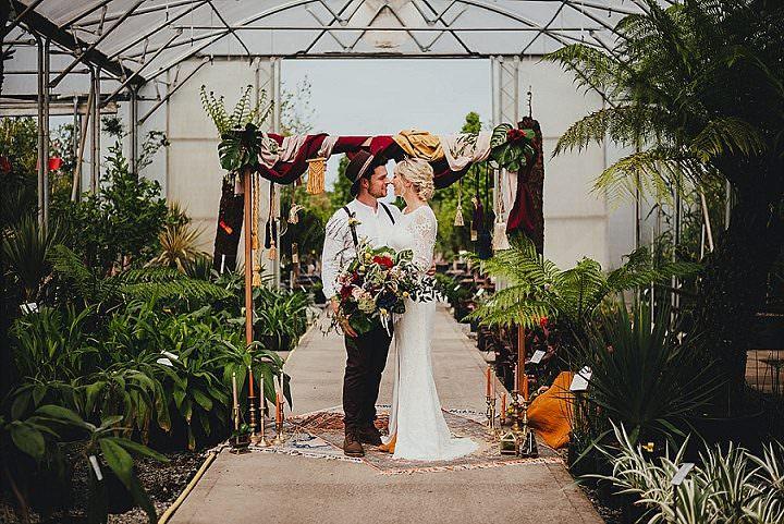 Botanical meets Geometric 'Modern Mohemia' Wedding Inspiration