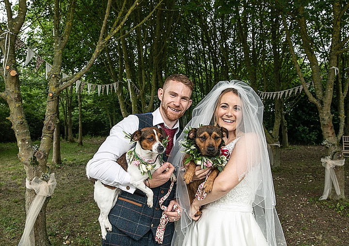Tanya and Brendon's Outdoor Handmade Woodland Wedding by Lorna Newman