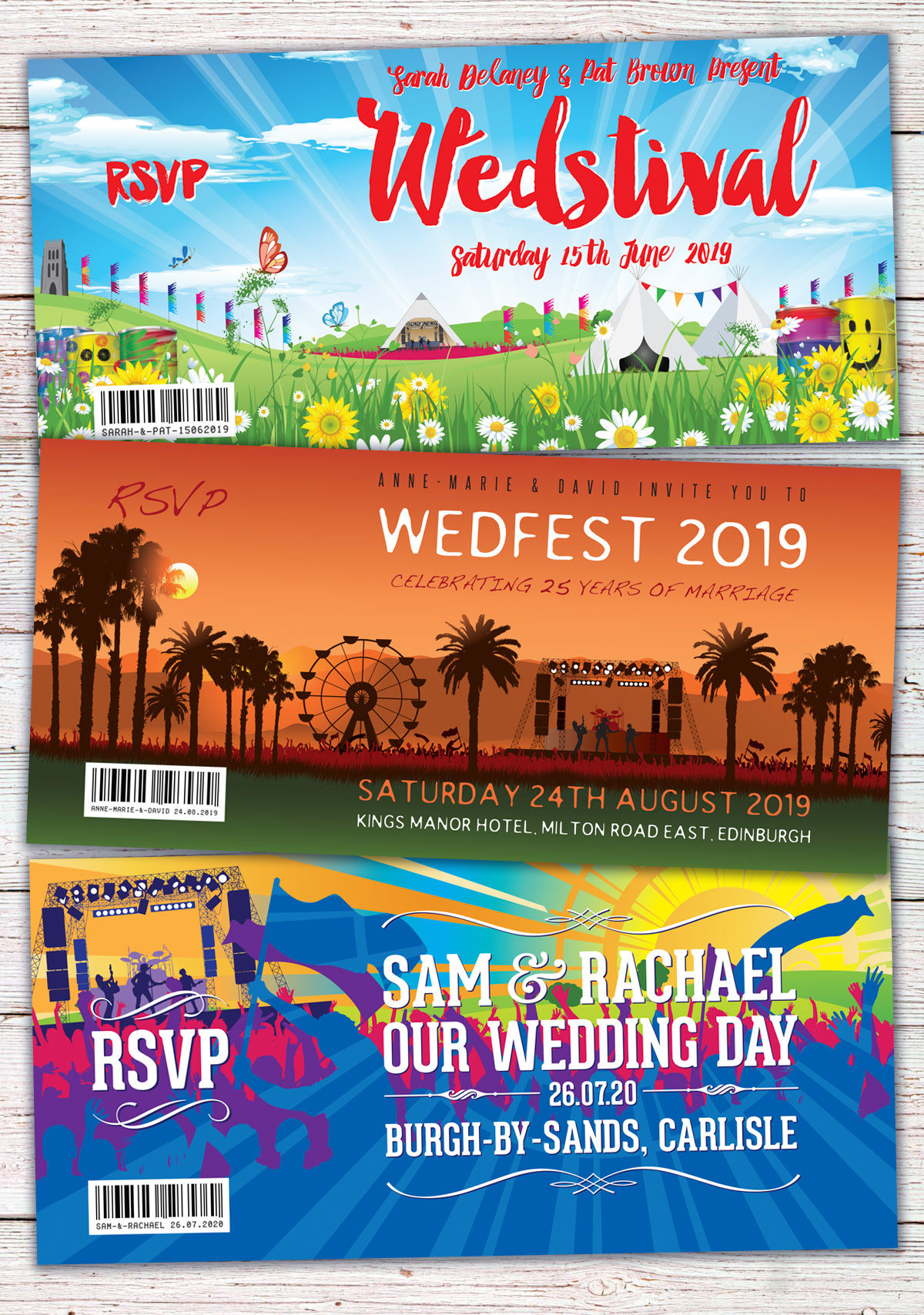 Wedfest Festival and Themed Wedding Stationery