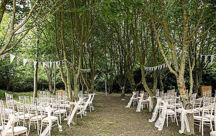 Tanya and Brendon's Outdoor Handmade Woodland Weddingby Lorna Newman