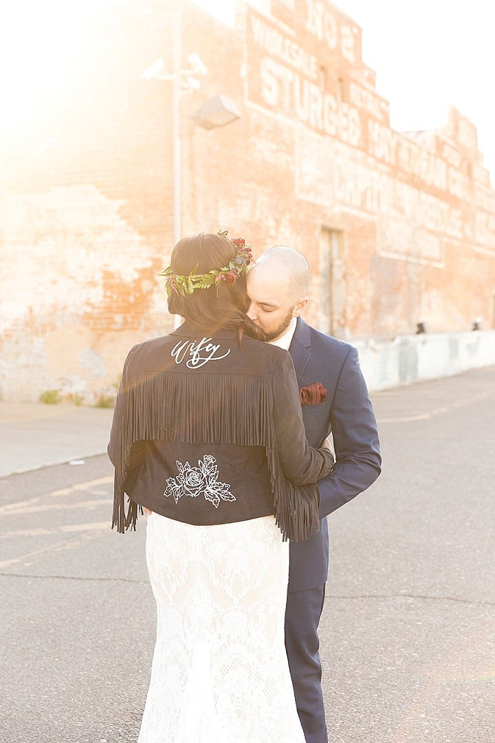 Rosie and Nick's Modern Jewel Toned and Geometric Wedding by Riane Roberts Photography