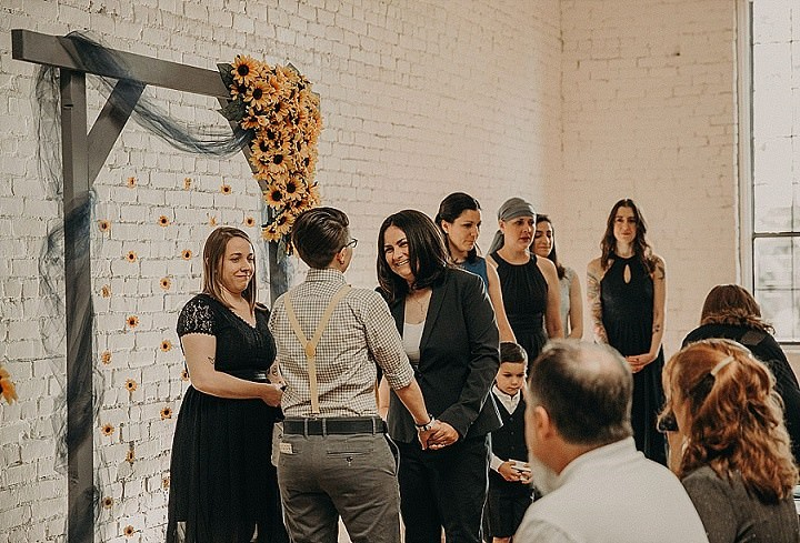 Lauren and Lindsey's Super Cool 'Converse and Sunflower' Texas Wedding by Nikk Nguyen Photo