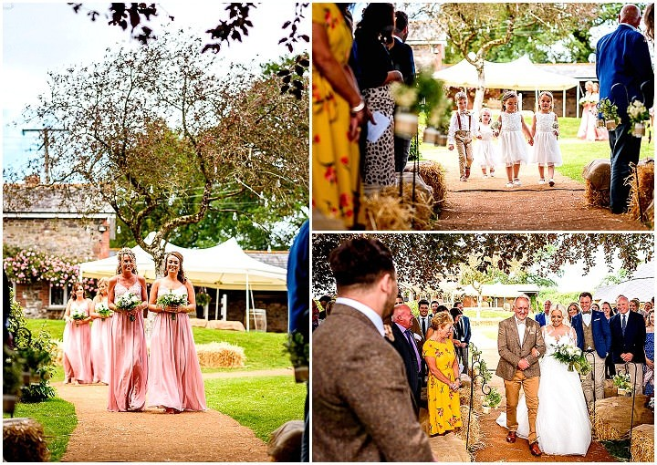 Sophie and Dale's Back Garden Rustic Farm Wedding in Devonby Lee Maxwell