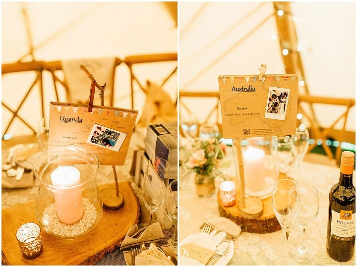 Matthew and Ashley's Cocktail Filled DIY Travel Themed Tipi Wedding by Jessica Lang Photo