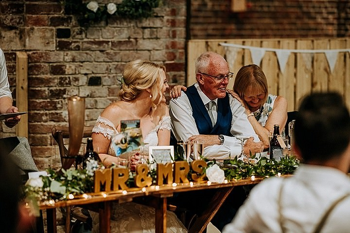 Alison and Jake'sTravel Themed Rustic Barn Wedding in Yorkshire by M & G Photographic