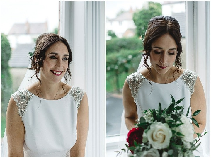 Roz and Michael's Rainy Back Garden Wedding in Leeds by Louise Barry Photographer