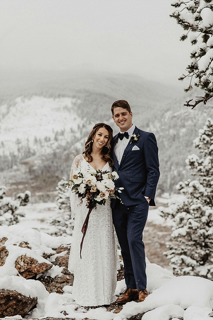 Jessie And Tom S Modern And Romantic Snowy Colorado Mountain