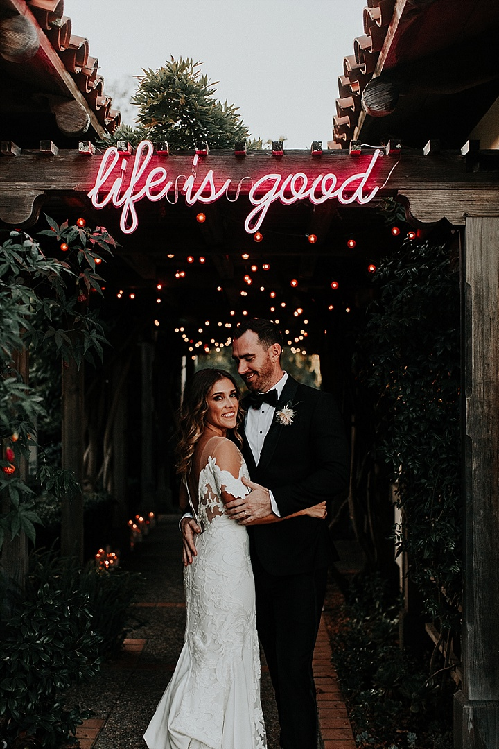 Anelisse and Braden's Tropical Themed 'Dance Party' Wedding in California by Alexandra Wallace