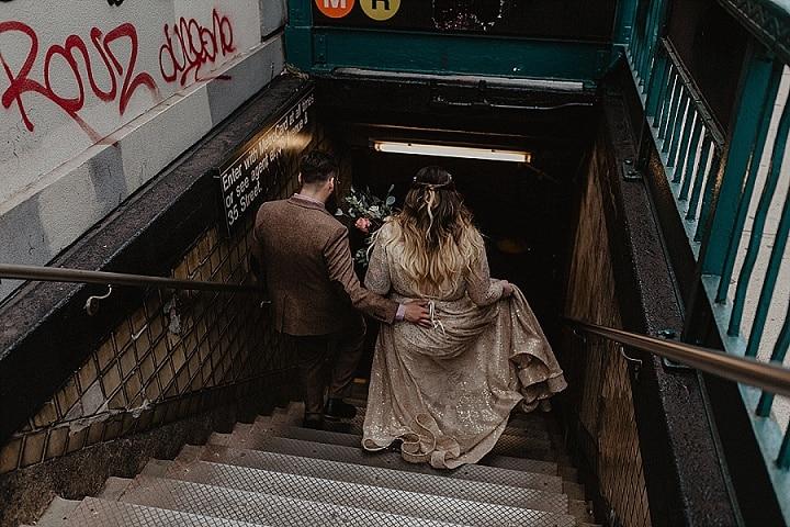 Briana and Sean's Super Stylish with a Rock and Roll Edge Brooklyn Loft Wedding by Nicole Nero