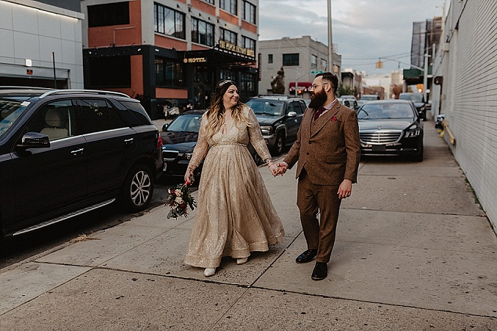 Briana and Sean's Super Stylish with a Rock and Roll Edge Brooklyn Loft Wedding by Nicole Nero