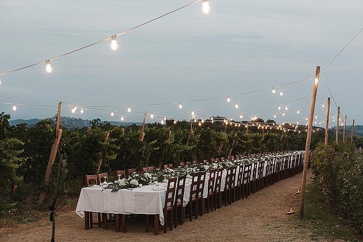 Emanueleand Chiara's Stunning White and Sage GreenVineyard Wedding in Italy