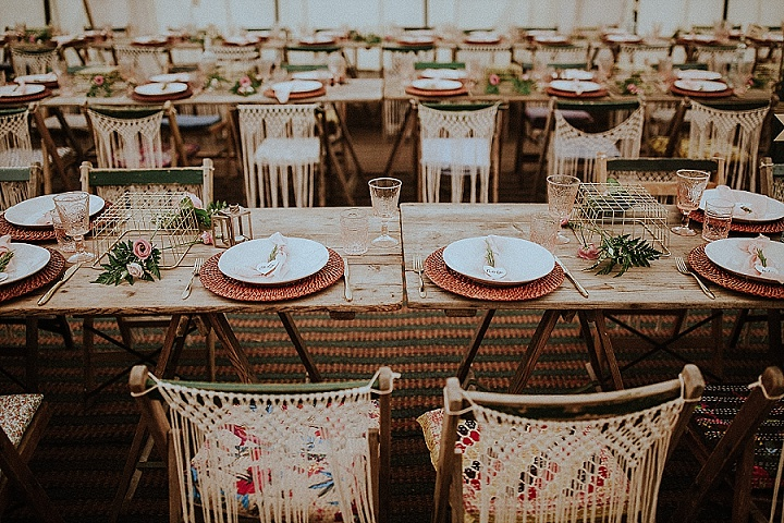 Emily and Martyn's Macrame Filled 'Bohemian Charm' DIY Wedding in Norfolk by Steven Haddock