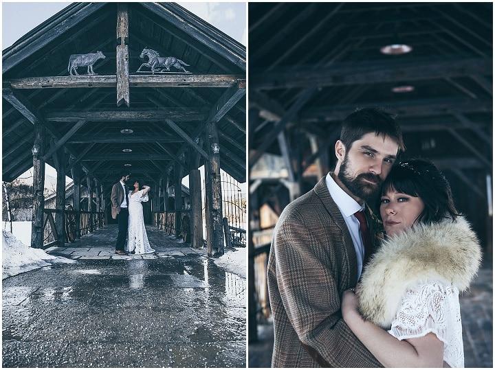 Snowy Rustic Farmhouse Wedding Inspiration