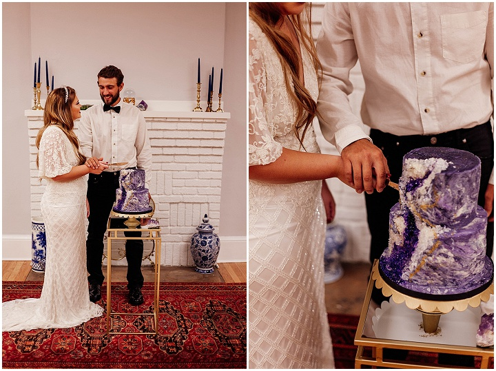 'Celestial Dreams and Geode Cakes' - Winter Solstice Wedding Inspiration