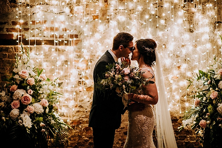 Annie and James'Rustic Charm' York Barn Wedding with Fairy Lights and Vintage Accents by M and G Photographic