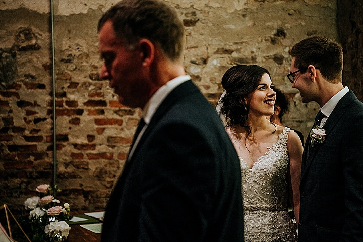 Annie and James 'Rustic Charm' York Barn Wedding with Fairy Lights and Vintage Accents by M and G Photographic