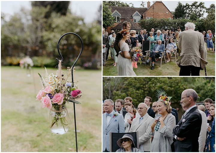Sarah and Alex's 'Wildflowers and Bunting' Laid Back Wedding at Home by Faye Green Photo