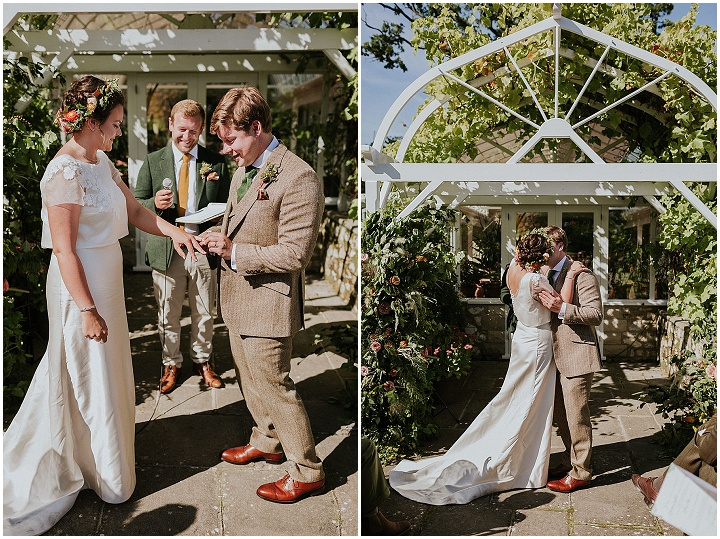Imogen and Nathaniel's Beautiful Pink, Green and Yellow Home Wedding in Devon by Maja Tsolo