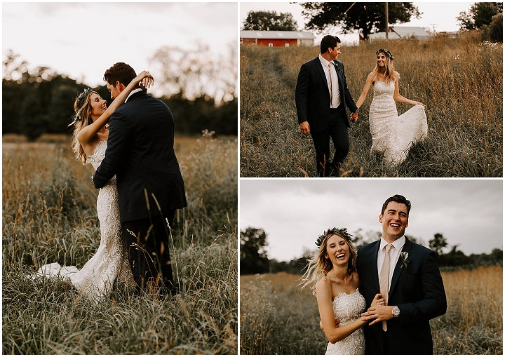 Kaelyn and Ryan's Classic Country with a Mix of Boho Chic Wedding by Me and him Photography