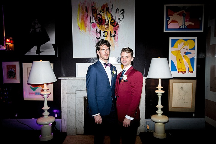Tyler and Adam's Art Nouveau Themed Navy, Burgundy and Copper New York Wedding by Phillipvn Photography