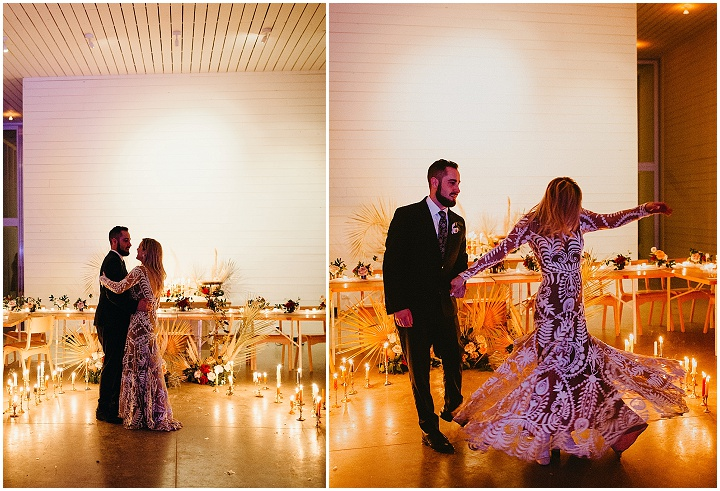 Taylor and Derek's Vintage Boho Meets Palm Springs Wedding in Texas by EPOCH CO+ Events and Century Tree Productions