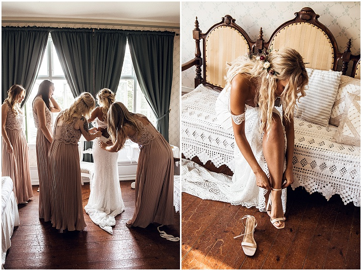 Marija and Ali's 'Geometric Patterns and Wild Flowers' Boho Luxe Swedish Wedding by Karin Lundin