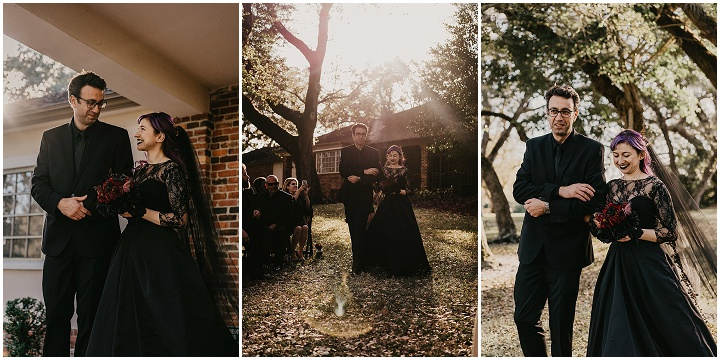 Diana and Frank's Gothic Fantasy Meets Beauty and the Beast Florida Wedding by Light Sky Photography