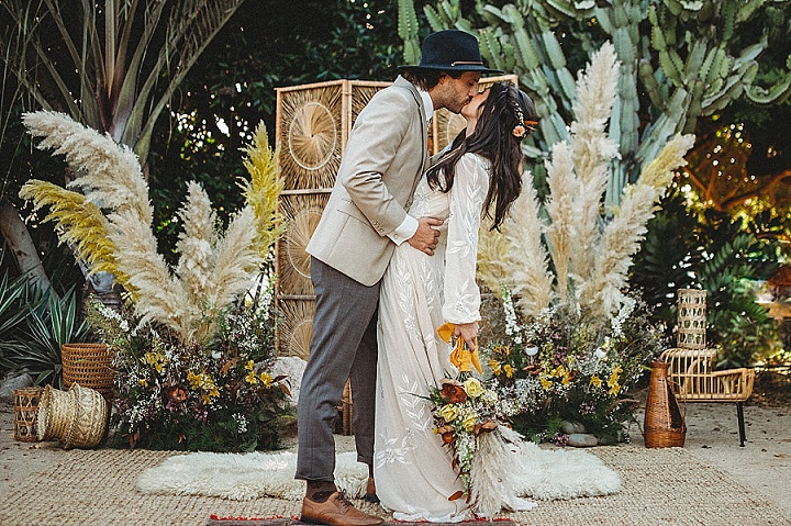 70's Surfer Vibes Meets Bohemian Beach Wedding Inspiration
