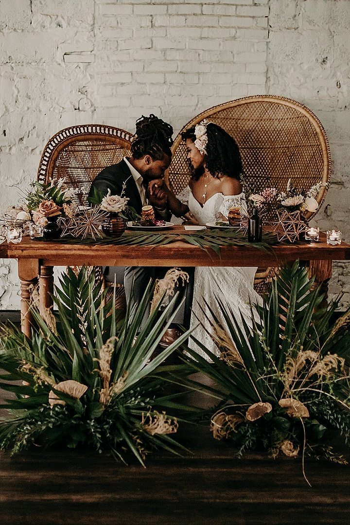 'Palm Leaves and Doughnut Walls' Urban Bohemian Oasis Wedding Inspiration