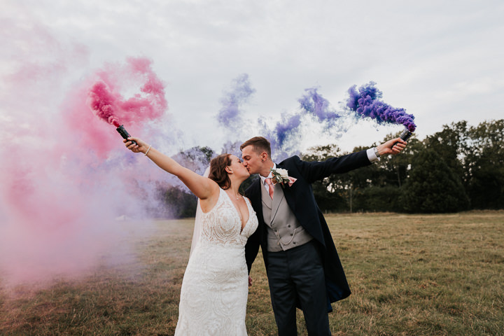 Melissa and Steven's Super Glam Peacock Themed Wiltshire Wedding by Kate Gray Photography