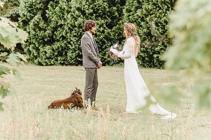 Nora and Mason's Dog Loving Natural and Outdoorsy Boho Wedding by Sarah Elizabeth Photos