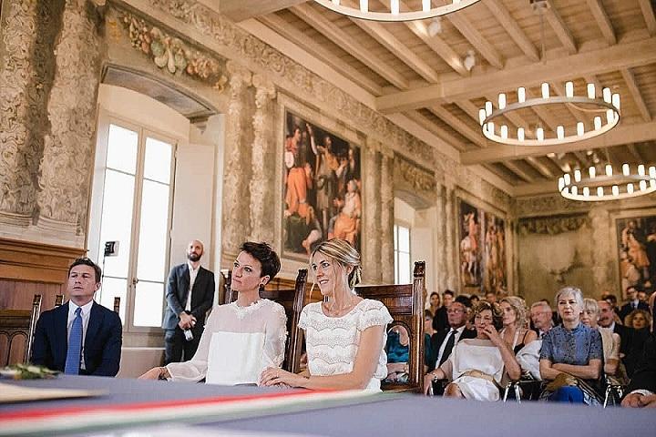 Anna and Ilaria's Bright and Beautiful Cactus Filled Outdoor Italian Weddingby Laura Stramacchia