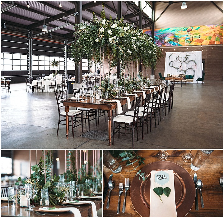 Kristen and Garrett's Modern Rose Gold and Greenery Detroit Wedding by Rosy and Shaun Wedding Photography