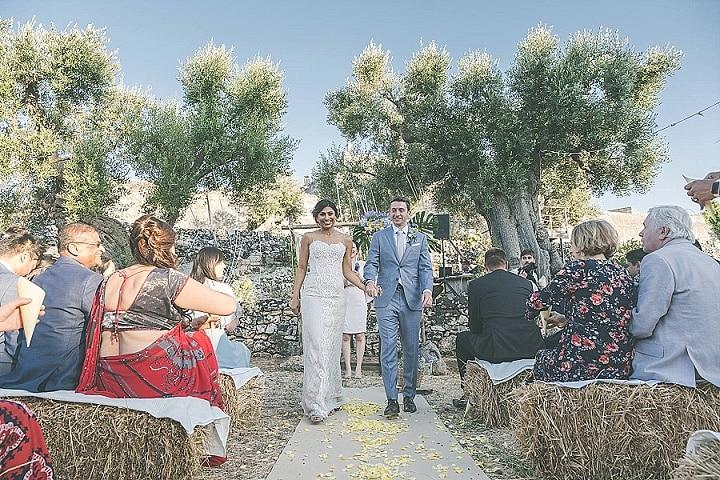Bhavini and Nick's Dusky Blue and YellowOutdoor Italian Wedding by Andrea Antohi